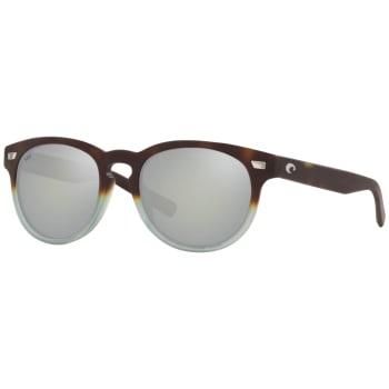 Costa Del Mar Unisex Sunglasses - Matte Tide Pool/ Grey Silver Mirror