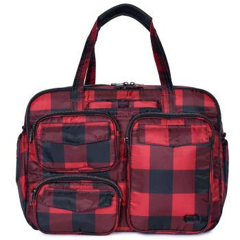 Lug® Puddle Jumper Duffel Bag - Buffalo Check Red