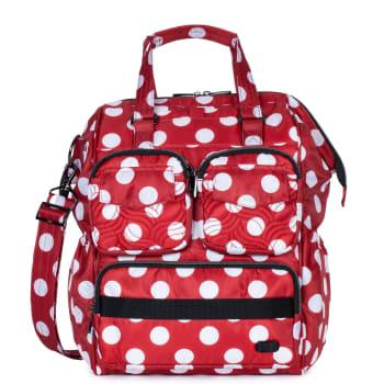 Lug® Via 2 Convertible Tote Bag – Crimson Large Dot
