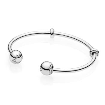 Pandora Moments Open Bangle - Silver