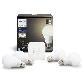Philips Hue White A19 4-Pack Starter Kit