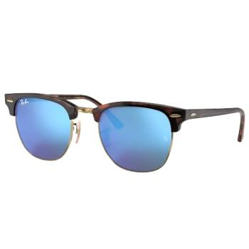 Ray-Ban Clubmaster Flash Sunglasses - Tortoise/Blue Flash
