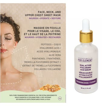 T-Zone Health™ Nature's Pur Element™ Frankincense Serum and Face Mask Bundle
