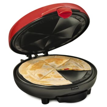 Nostalgia® Taco Tuesday Deluxe 8'' 6-Wedge Electric Quesadilla Maker with Extra Stuffing Latch