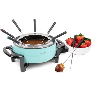 Nostalgia™ 6-Cup Electric Fondue Pot - Aqua