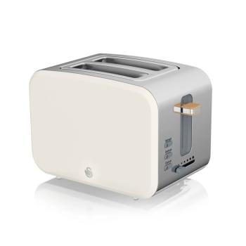 Swan 2-Slice Nordic Style Toaster - Cotton White