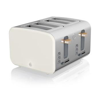 Swan 4-Slice Nordic Style Toaster - Cotton White