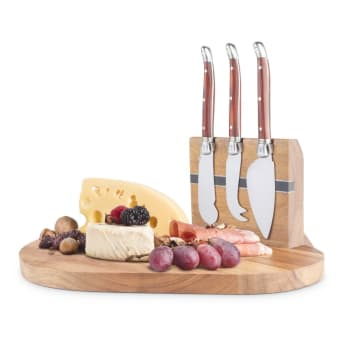 Final Touch® 5-Piece Magnetic Cheese Board Set
