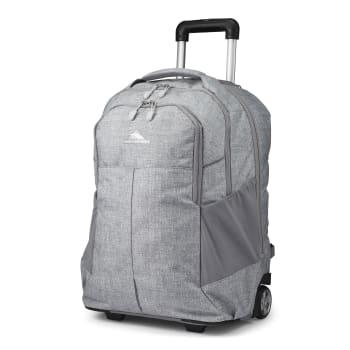 High Sierra Powerglide Pro Wheeled Backpack – Silver Heather