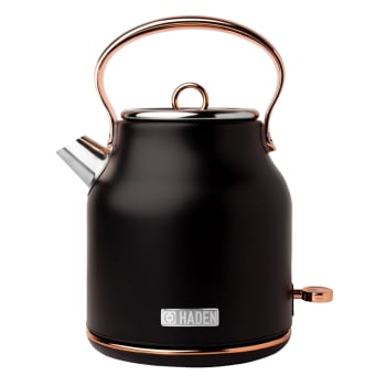 Haden Heritage 1.7-Litre Stainless Steel Electric Kettle - Black & Copper