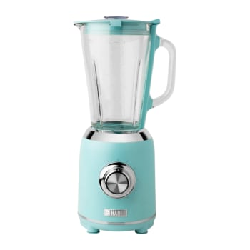 Haden Heritage 56-Ounce 5-Speed Retro Blender with Glass Jar – Turquoise