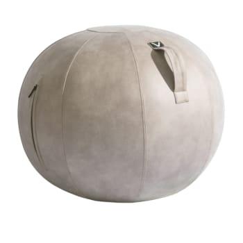 Vivora Luno Standard Leatherette Sitting Ball Chair – Beechwood