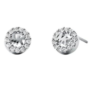 Michael Kors Sterling Silver Logo Stud Earrings