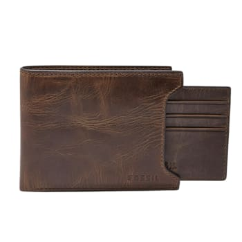 Fossil Derrick Sliding 2-in-1 Bifold Wallet - Brown