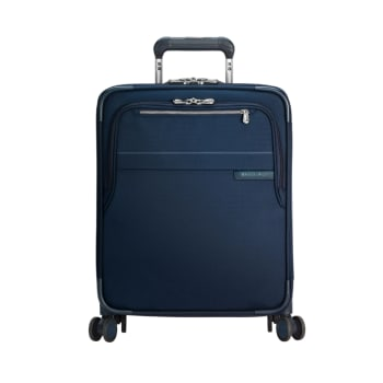 """Briggs & Riley 21"""" Baseline International Carry-On Expandable Wide-Body Spinner – Navy"""