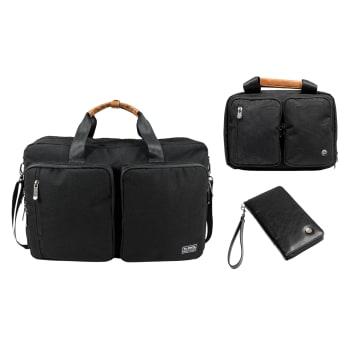 PKG Trenton II Backpack, Simcoe Hanging Dopp Kit and Victoria Zippered Wallet Bundle