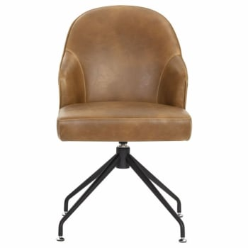 Sunpan Bretta Swivel Dining Chair - Tobacco Tan