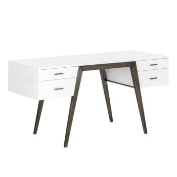 Sunpan Cole Desk – High Gloss White