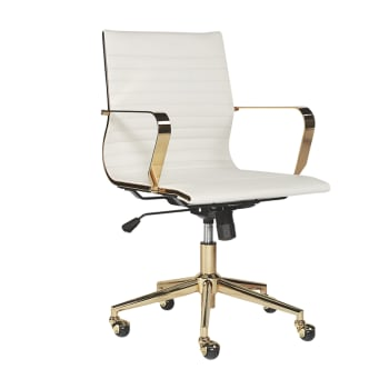 Sunpan Jessica Office Chair – Snow