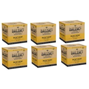 Balzac's Coffee Roasters Balzac's Blend 18-Pack Compostable Keurig® Coffee Pods – Set of 6