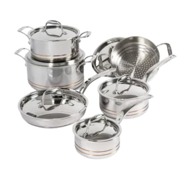 Lagostina Copper Core Clad 12-Piece Cookware Set