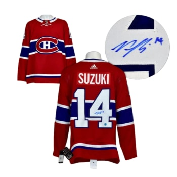 AJ Sports Nick Suzuki Montreal Canadiens Autographed Adidas Jersey