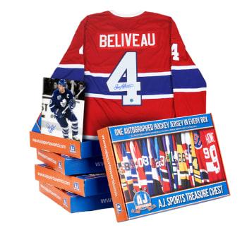 AJ Sports Legends Of Hockey Dual Signature Dream Rewards Treasure Chest Series XXI.