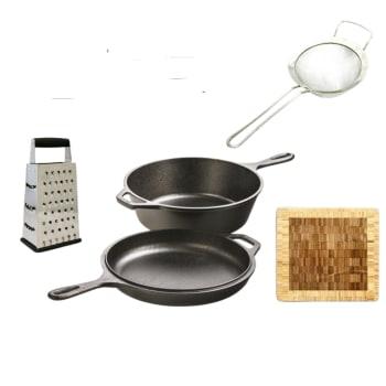Lodge 3.2-Quart Cast Iron Combo Cooker Bundle