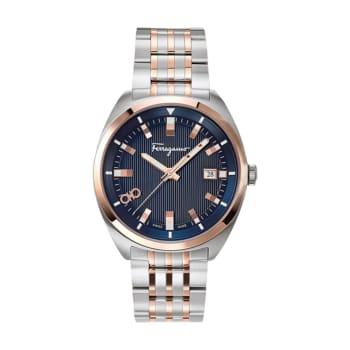Salvatore Ferragamo Evolution Men's Two Tone Stainless Steel Watch