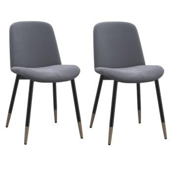 Worldwide Home Furnishings Gabi Side Chair – Grey – Set of 2