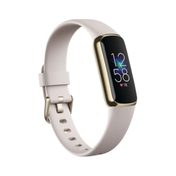 Fitbit Luxe Fitness Tracker with 24/7 Heart Rate & Sleep – White