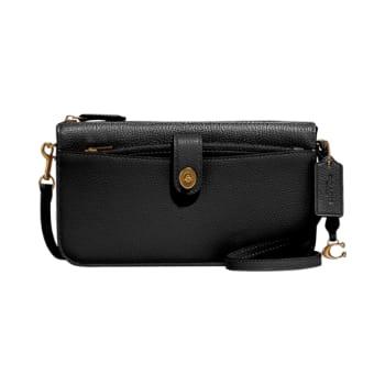 Coach Noa Pop-Up Leather Messenger Bag – Black