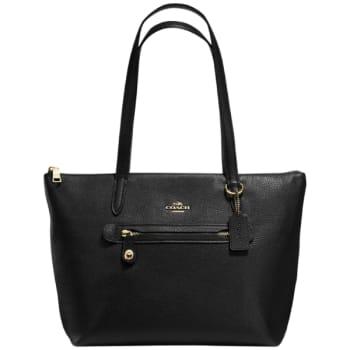 Coach Taylor Pebble Leather Tote Bag – Black