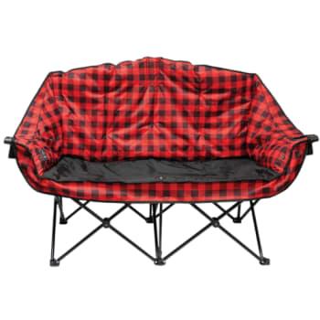 Kuma Bear Buddy Heated Double Chair – Red/Black