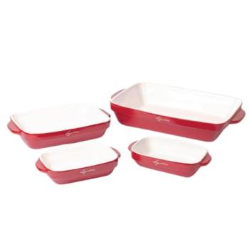 Lagostina 4-Piece Ceramic Bakeware Set