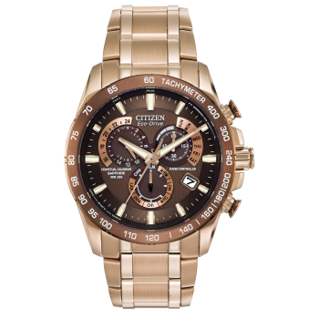 Citizen Men's Eco-Drive Perpetual Chrono A-T Watch - Rose Goldtone