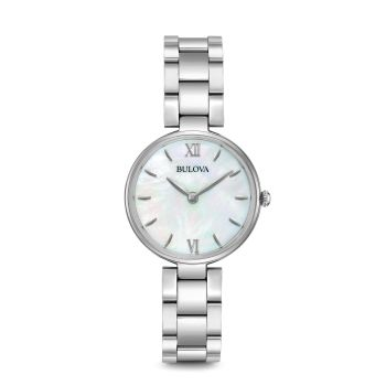 Bulova Classic White Mother of Pearl Dial Stainless Steel  Ladies Watch