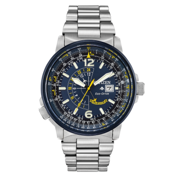Citizen Men's Eco-Drive Blue Angels Promaster Nighthawk Stainless Steel Watch