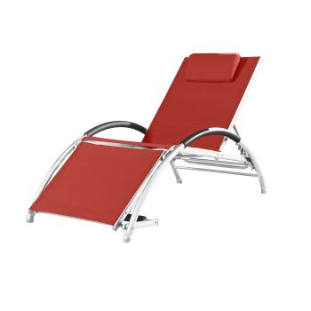 Vivere Dockside Sun Lounger - Cherry Red