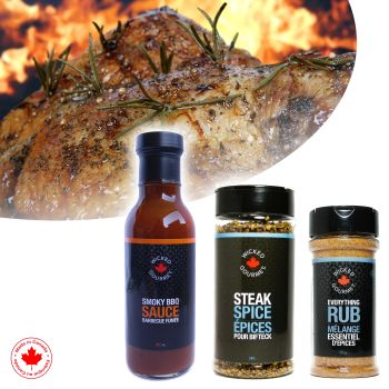 Wicked Gourmet Sauce And Flavour Rubs - Smoky BBQ Sauce, Everything Rub, Steak Spice