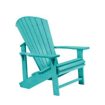 C.R. Plastic Generation Line Classic Adirondack Chair - Turquoise