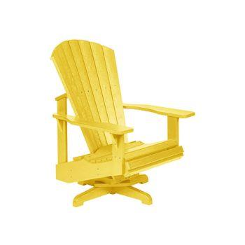 C.R. Plastic Generation Line Swivel Adirondack Chair - Yellow
