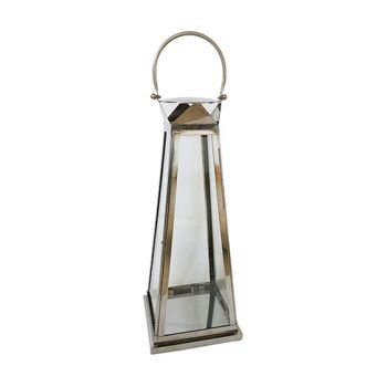 Protégé Casual Stainless Steel 28'' Tapered Lantern - Set of 2