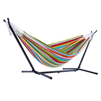 Vivere Combo Double Polyester Hammock with 9ft Stand - Ciao