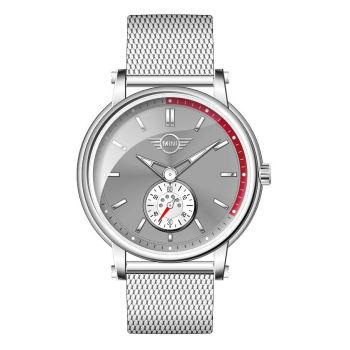 Mini Cooper Stainless Steel Milanese Bracelet Grey Dial Unisex Watch