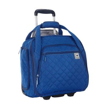 Delsey Quilted Rolling Underseat Tote - Blue