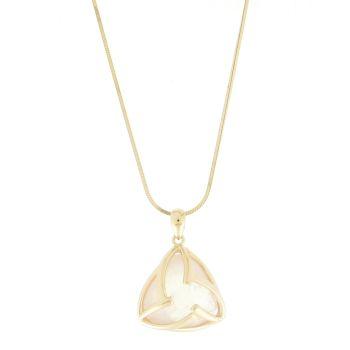 Creed Rose-Gold Plated Rose Quartz Pendant Necklace