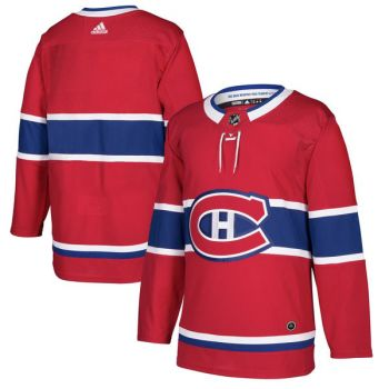Men's Montreal Canadiens Adidas Red Authentic Pro - Blank Jersey - Large