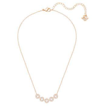 Swarovski Angelic Square Necklace - White/Rose Gold