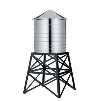 Alessi Stainless Steel Water Tower Container with Stand